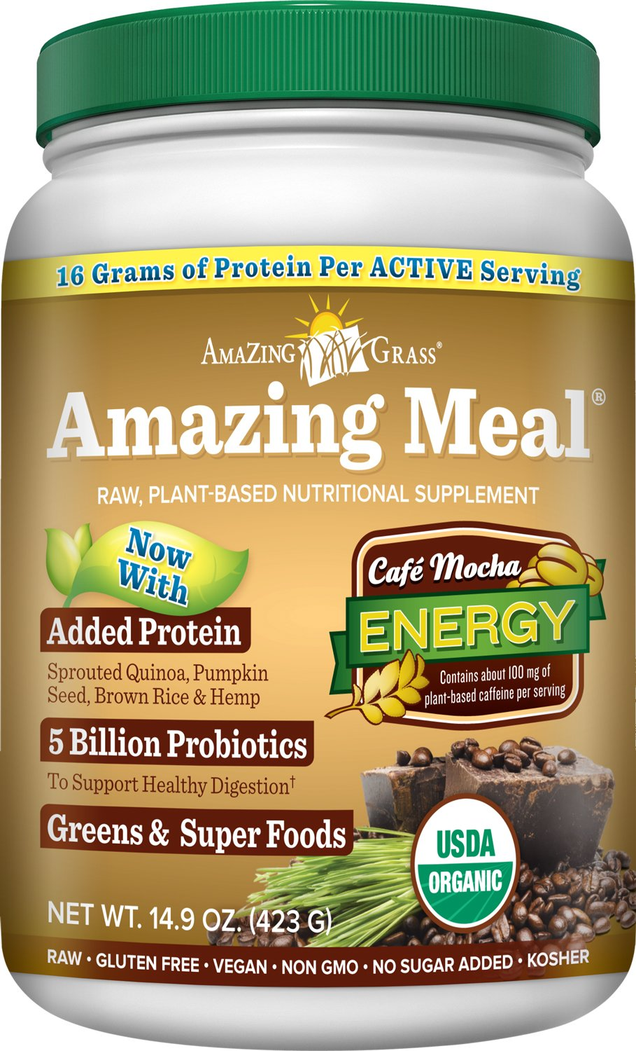 Amazing Grass Amazing Meal Supplement Powder, Cafe Mocha, 14.9 Ounce: Amazon.com: Grocery & Gourmet Food