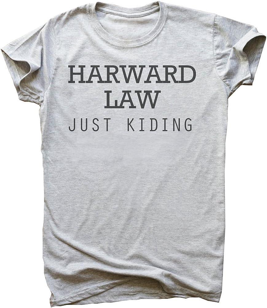 IDcommerce Harward Law Just Kidding Womens T-Shirt Small White