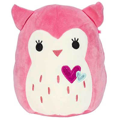 Squishmallow Kellytoy 2020 Valentines Squad 8 Inch Francesca The Pink Owl Plush Doll……: Toys & Games