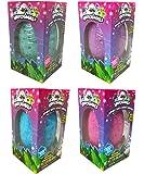 Hatchimals JUMBO Bath Bomb Surprise Set of 4 - Burtle Berry, Penguala Pineapple, Draggle Grape and Penguala Bubble Gum Scented