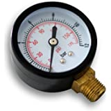Indicador de presión recipiente a presión/manómetro radial DN8 (0,64 cm) 12,9 mm 0-12bar 0-170 PSI diámetro~50mm