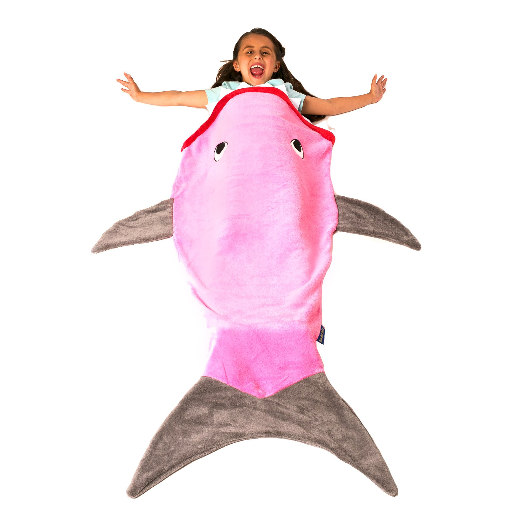 Blankie Tails The Original Shark Blanket for Kids from (Gray and Pink)