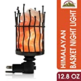 Himalayan Glow Natural Pillar Style Salt Lamp Night