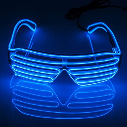 Amazon.com: Fronnor EL Glasses EL Wire Neon LED Sunglasses Light Up ...