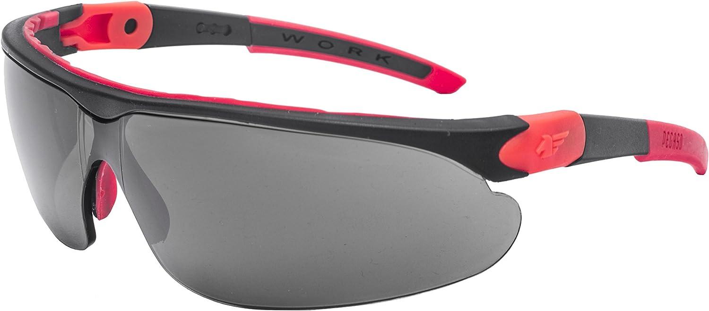Pegaso 835.98.130 Gafas de Protección, Negro y Rojo, L