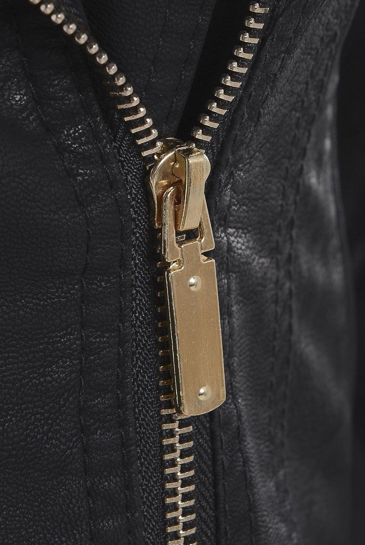 Size 8 to 16 Black SS7 Womens Original Faux Leather Biker Jacket