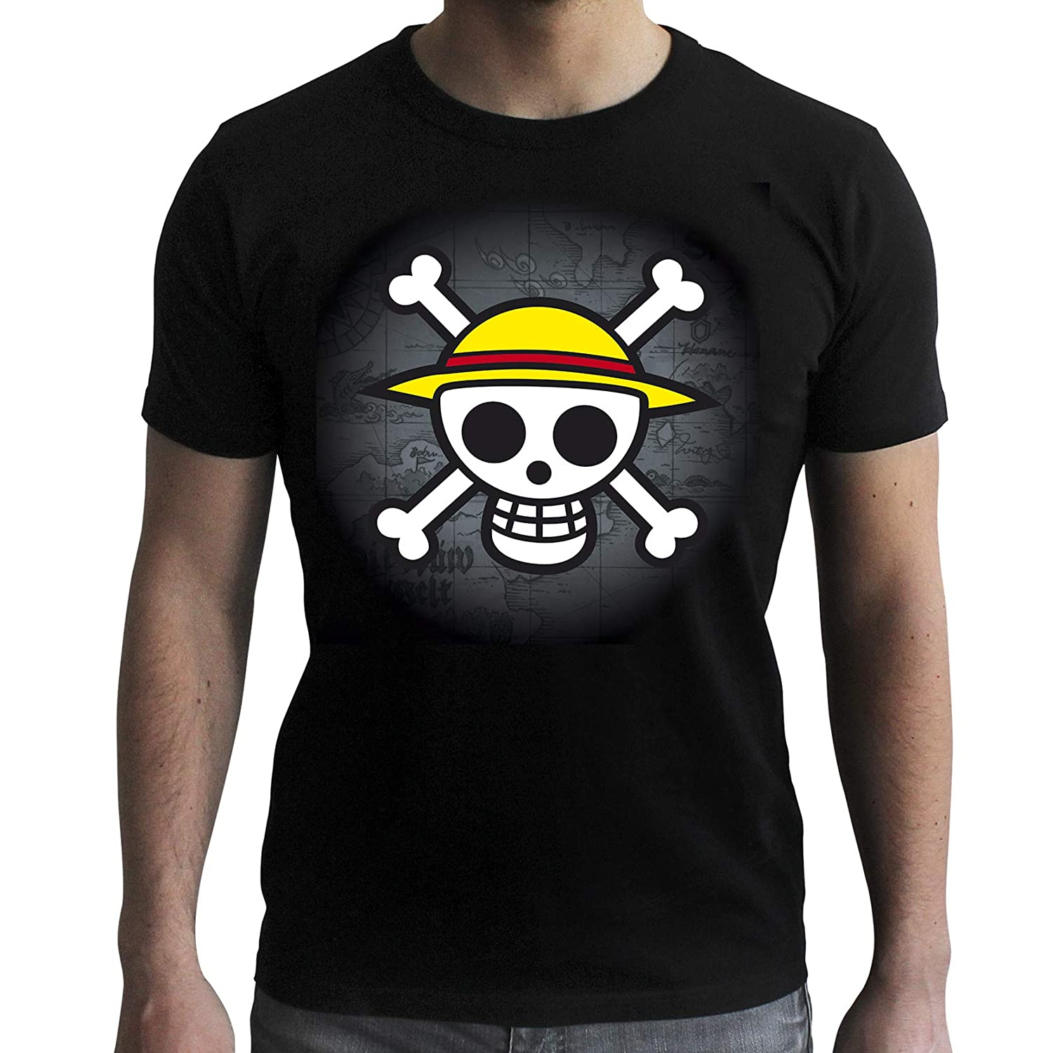 One Piece Skull with Map Camiseta de Negro