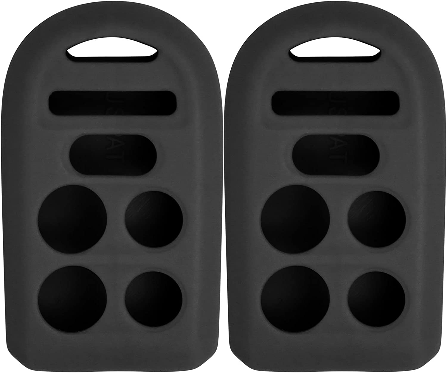 2 Pack Pink Keyless2Go New Silicone Cover Protective Case for Remote Key Fobs with FCC CWTWB1U819