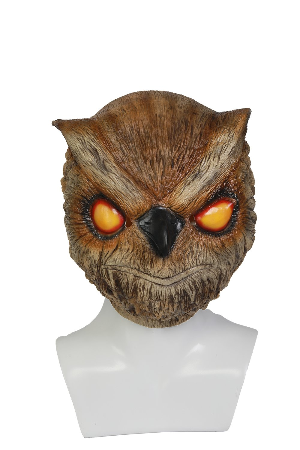 Rasmus Owl Mask Helmet for Adult Masquerade Cosplay Props Brown