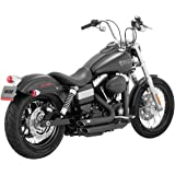 Vance & Hines Shortshots Staggered Exhaust Black 47227