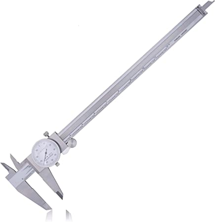 """Dial Caliper 8/"""" Anytime Tools Premium Precision Double Shock Proof Stainless"""