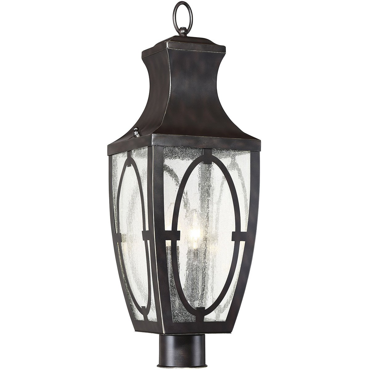 Savoy House 5-264-213 Shelton 2-Light Outdoor Post Lantern in English Bronze/Gold