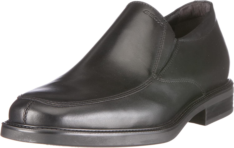 TALLA 42.5 EU. Geox UOMO LONDRA U0385E 43 C9999 - Zapatos clásicos de cuero para hombre