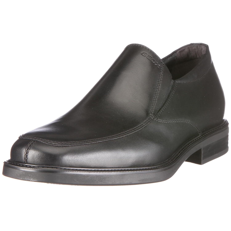 Geox UOMO LONDRA U0385E 43 C9999 - Zapatos clásicos de cuero para hombre 39 EU|Negro