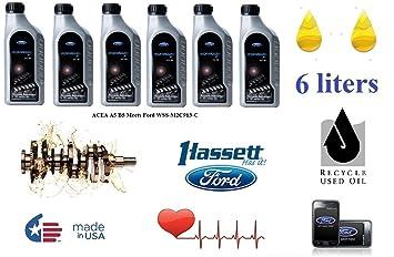 Ford Fórmula F 5W30 - Aceite sintético de motor, 6 l, ACEA A5/B5 WSS-MC2913-C: Amazon.es: Coche y moto