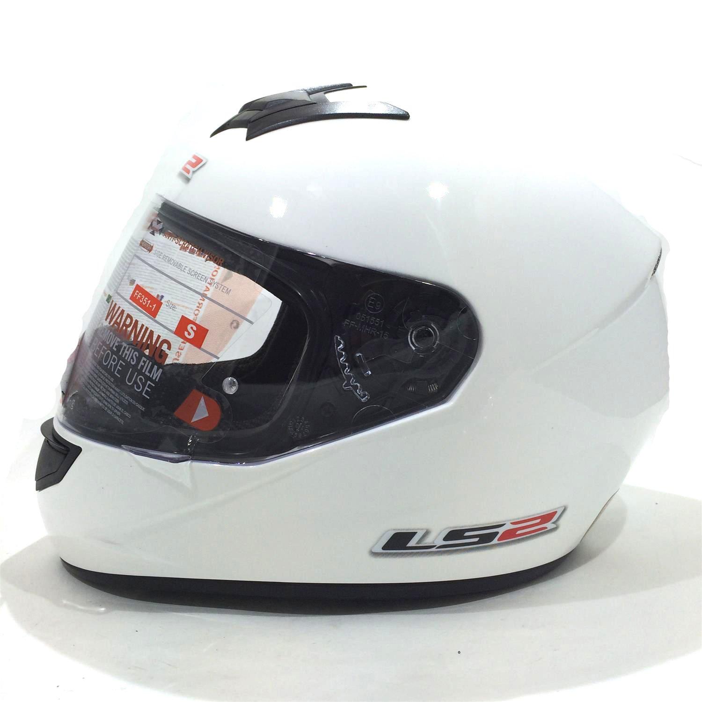 Casco de la motocicleta LS2 FF351 Mono casco integral (L, Blanco) product image