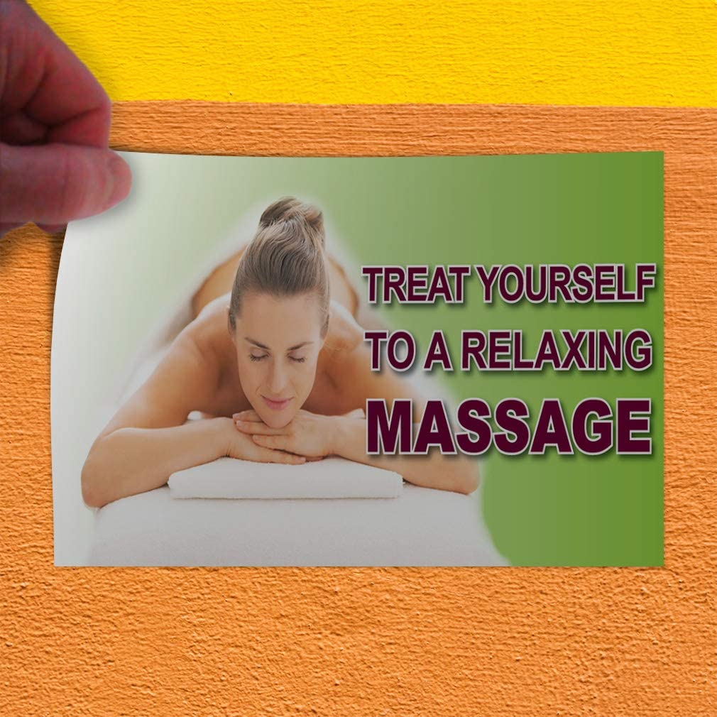 52inx34in Decal Sticker Multiple Sizes Massage Therapy Business Business Massage Outdoor Store Sign Brown Set of 2