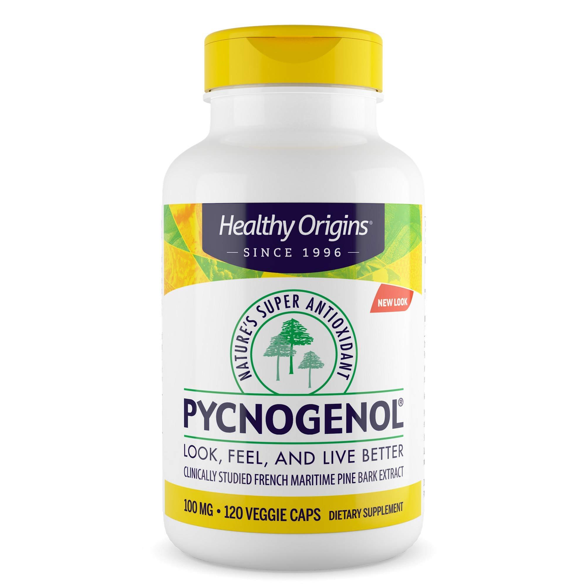 Healthy Origins Pycnogenol (Nature's Super Antioxidant) 100 mg, 120 Count