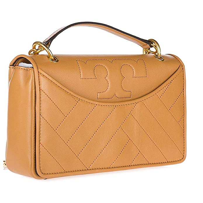 217a48c172f7 Tory Burch Alexa Leather Shoulder Bag, Aged Vachetta: Handbags: Amazon.com