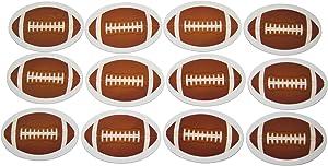 Novel Merk Football Oval Teacher Decorations Small Refrigerator Magnet Set Miniature Design (12 Pieces)