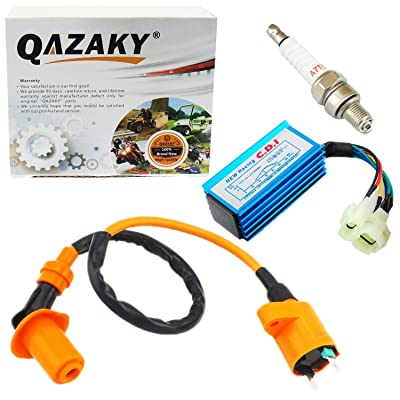 QAZAKY 6 Pins CDI + Ignition Coil + Spark Plug for XR50 XR70 XR80 XR100 CRF50 CRF70 CRF80 CRF100 Pit Dirt Bike 50cc - 110cc 125cc 150cc: Automotive