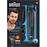 Braun Multi Grooming Kit MGK3045 Black/Blue – 7-in-1 Precision Trimmer for Beard and Hair Styling