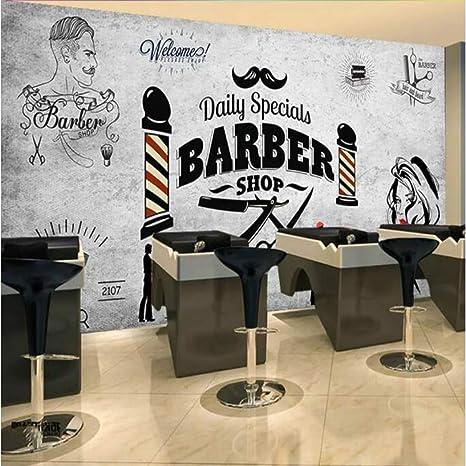 Wpchou Wallpaper 3d Barber Shop Background Wall Decoration