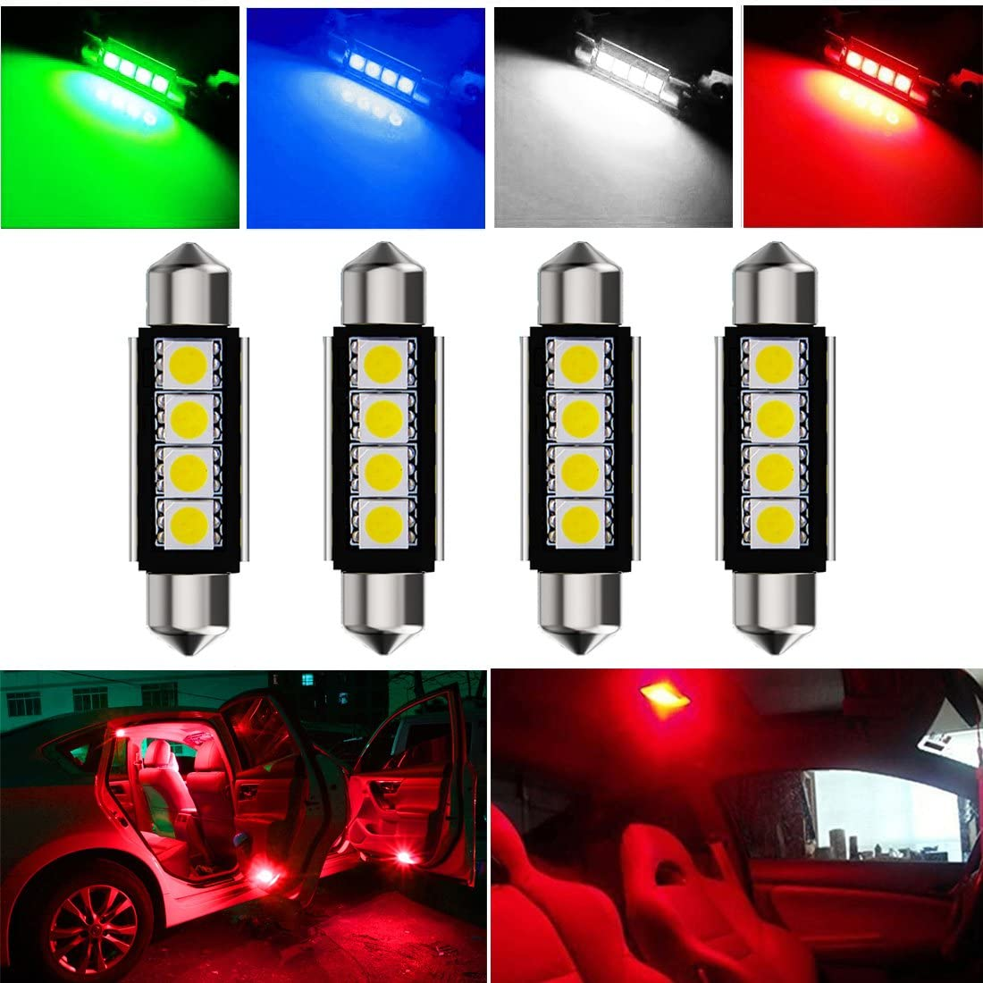 ERROR FREE 3 SMD NUMBER PLATE BULBS CANBUS SOLVED HIGH POWER LEDS