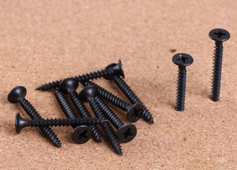 500 Pack Phillips Bugel Twinfast Type Screws Hardened Black Color #6 X 2