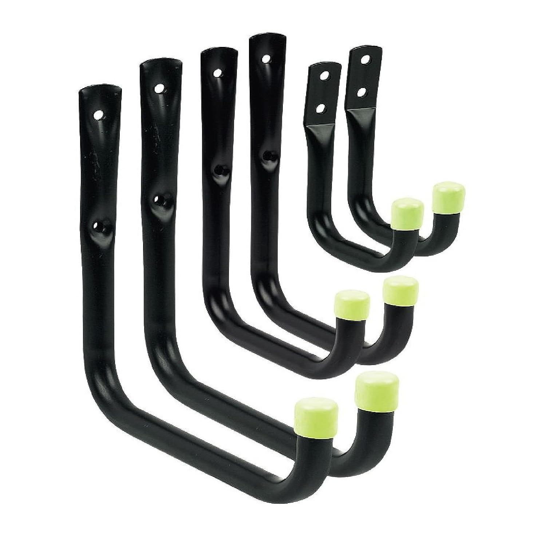 6 x Assorted Storage Hooks Wall Mounted, Ladder Garage Shed Bikes Tools Garden Home Smart hsmart-679
