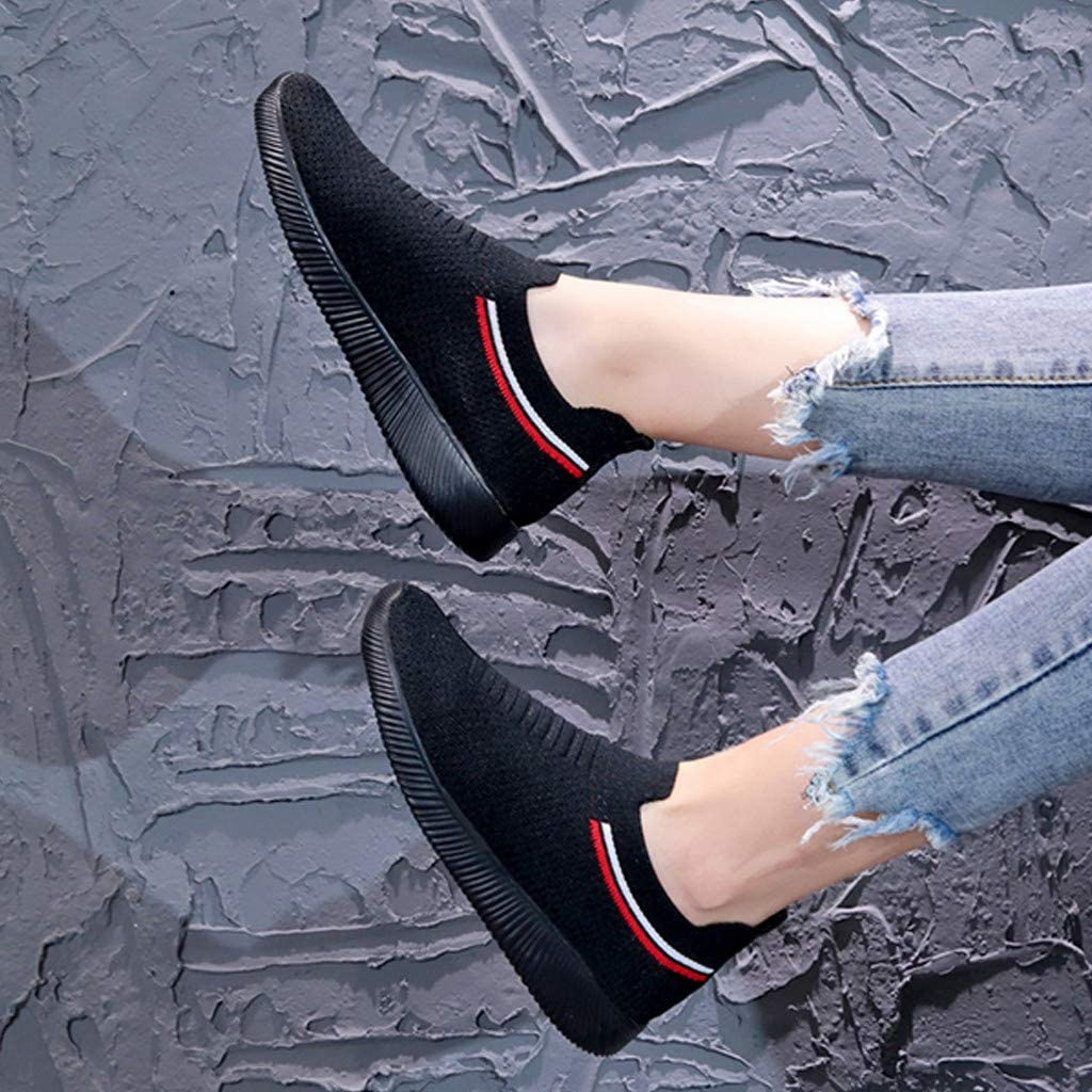 Femmes Baskets Mode Minceur Chaussures De Sport Running Jogging Marche Plate-Forme /éT/é Pas Cher Soldes Chic Mesh Respirant Confort Sneakers Basses