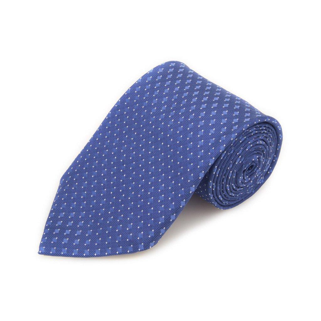 Robert Talbott Best Of Class Navy And Blue Neat Woven Silk Tie
