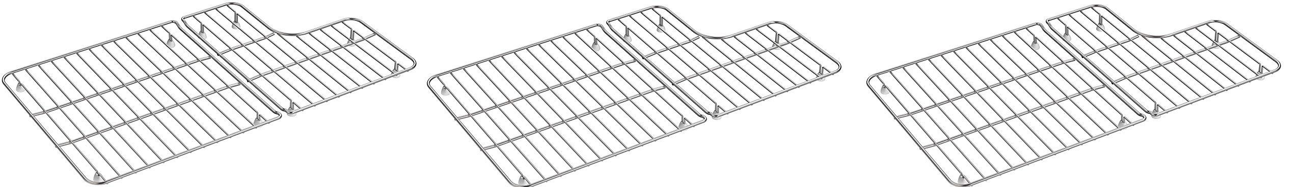 KOHLER 6449-ST Sink Racks for Whitehaven K-5826 and K-5827 Sinks, Stainless Steel (Pack of 3)