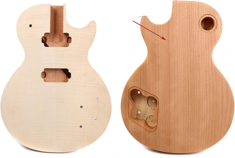 Yinfente - Cuerpo de repuesto para guitarra eléctrica de madera de arce, color caoba