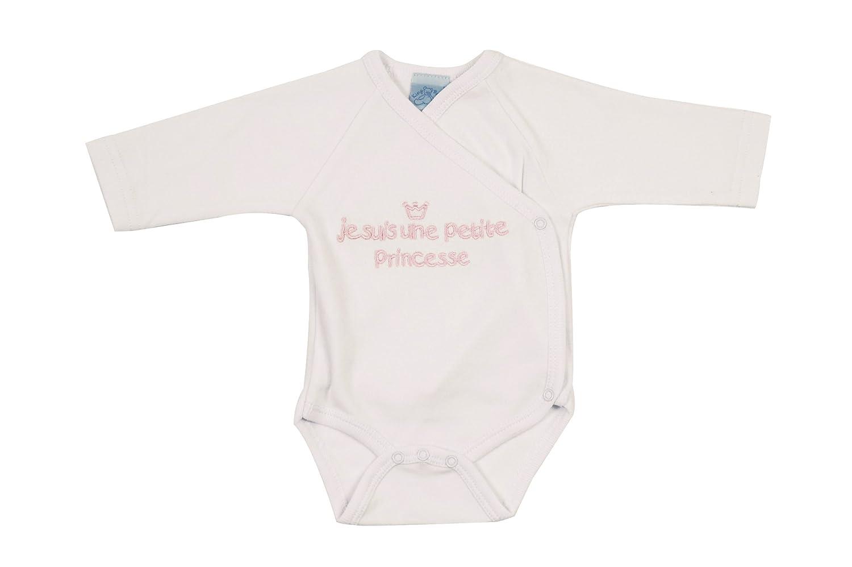 Je suis une Petite Princesse Body Brassi/ère Brode King Bear Blanc//Brode Rose 65008B