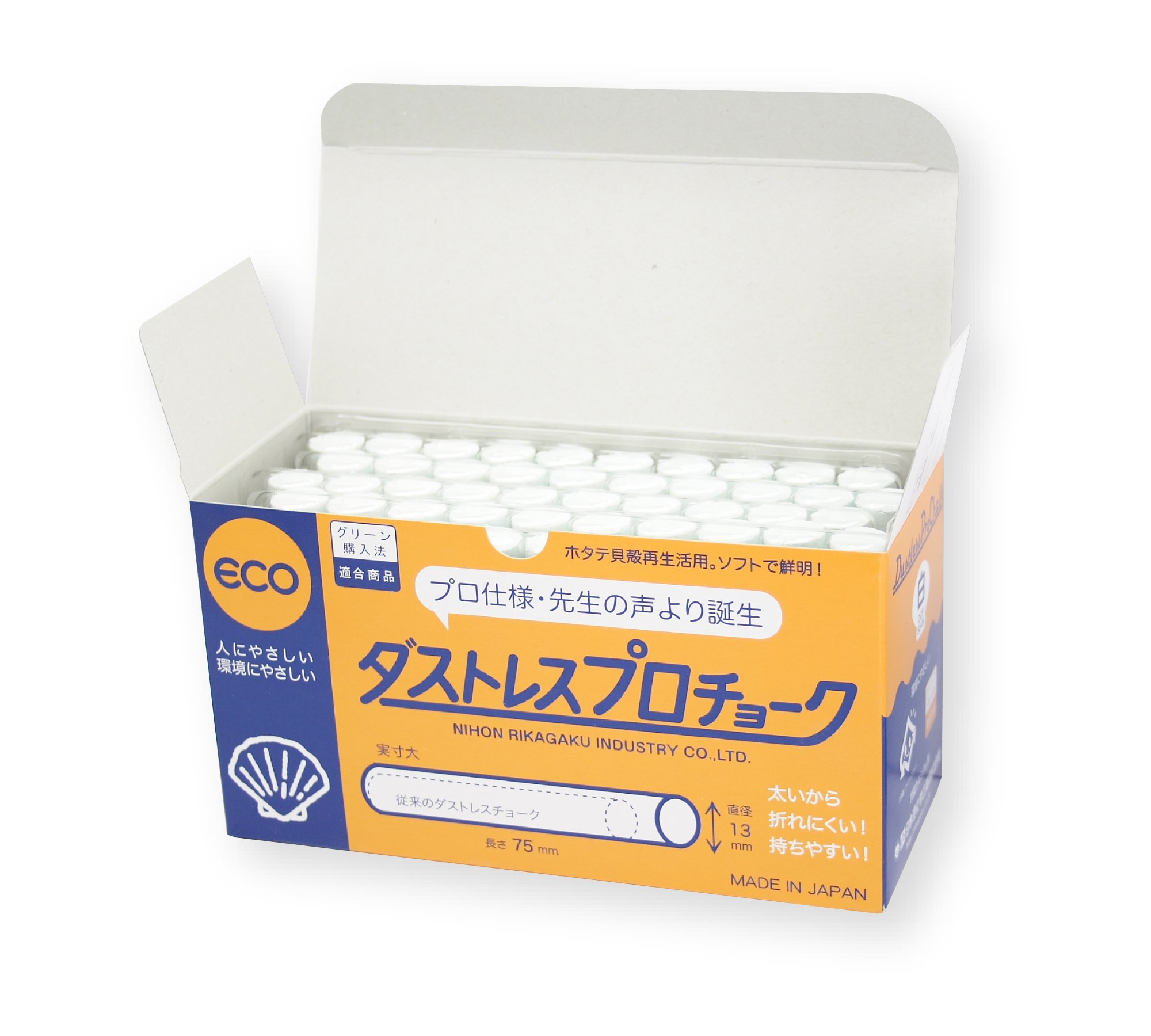 Dustless Professional Chalk (White) - produced by Japan's top chalk manufacturer