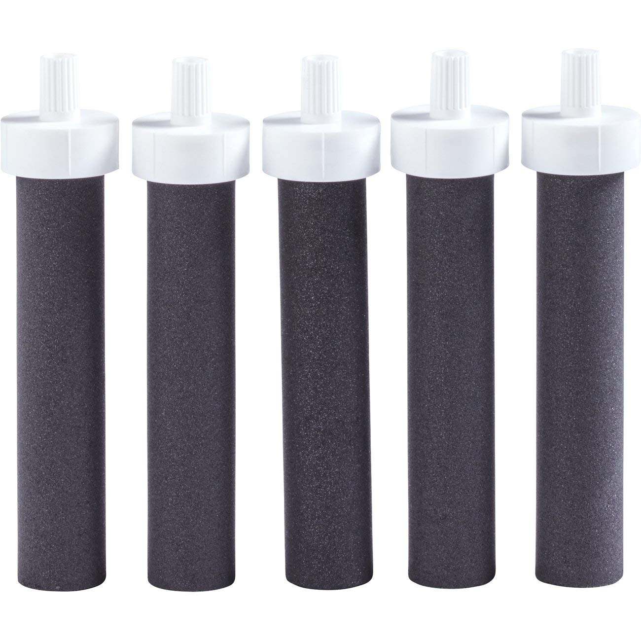 Brita Water Bottle Filter Replacements - BPA Free - 5 Count, Black