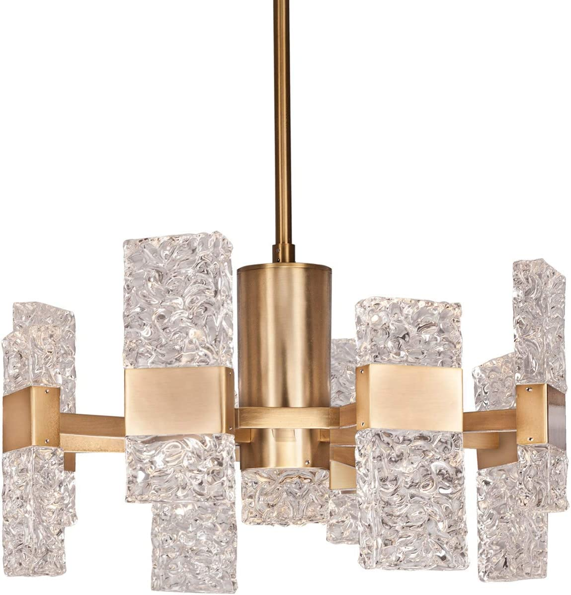 Kuzco Lighting CH9522-GB Oslo – Chandelier Ice Inspired, Molded Hand-Crafted Glass