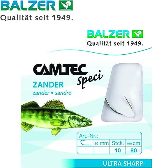 Balzer Haken Camtec Premium Aal rot Vorfach geflochten Aalhaken