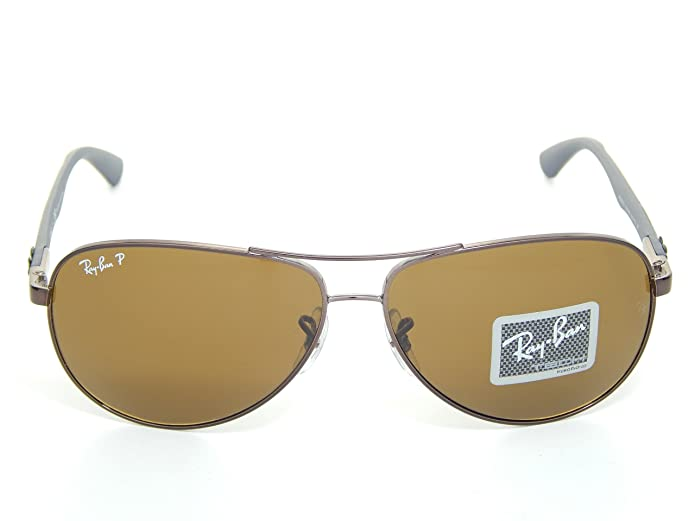 f7ceee41fb1 Amazon.com  Ray Ban Tech RB8313 014 N6 Brown Crystal Brown Polarized Lens  61mm Sunglass  Shoes
