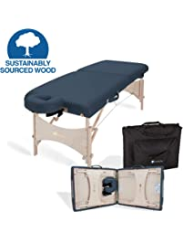 EARTHLITE Portable Massage Table HARMONY DX – Eco-Friendly Design, Hard Maple, Superior Comfort, Deluxe Adjustable Face...