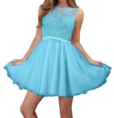 Kleid hellblau kurz