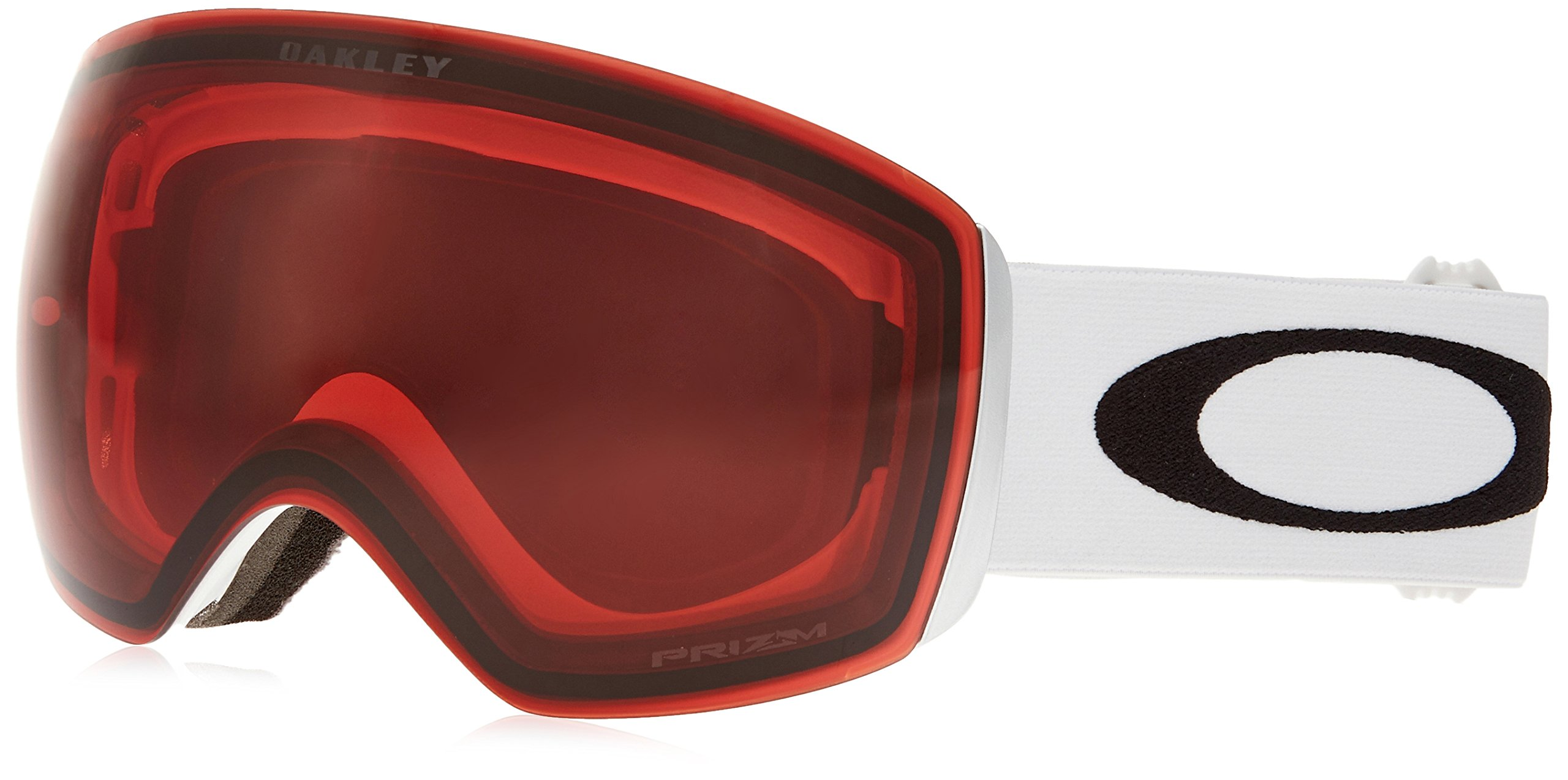 Oakley Flight Deck Ski Goggles, Matte White/Prizm Rose