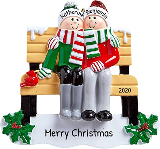 Winter Park Christmas 2020 Amazon.com: Personalized Park Bench Family of 2 Christmas Tree