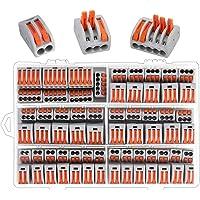 Conectores de bloque de terminal de cable,Preciva 100 Piezas conectores de cable compacto con palanca de empuje con…