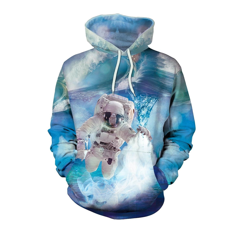 LiuHanqing Sweater 3D Digital Print Sweater mit Kapuze Studenten& 039; Mantel Für Männer und Frauen