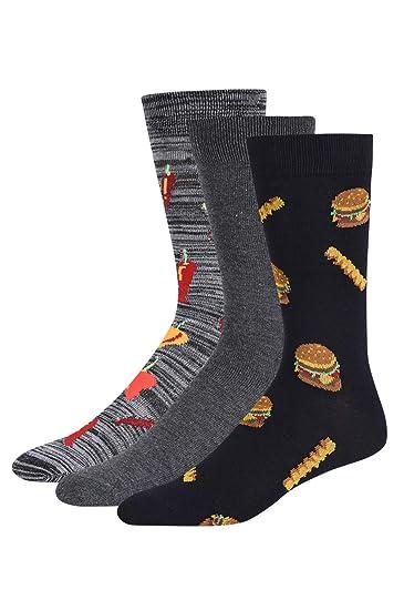 5decc684547ba Men's Premium Novelty Crew Socks (3-Pairs) (10-13, CHILI & HAMBURGER) at  Amazon Men's Clothing store: