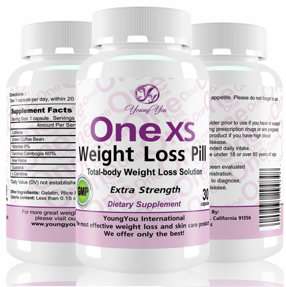 One XS Weight Loss Diet Pills. Appetite Suppressant and Fat Burner. Extra Strength. 1 pill a day active Weight Loss Supplement. .