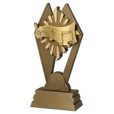 Trofeo premiazioni M/úsica/ /16/ /Karaoke/ /Base de m/ármol Figura de pl/ástico Made in Italy/ /Color Dorado/ /idea regalo /H cm manivela/