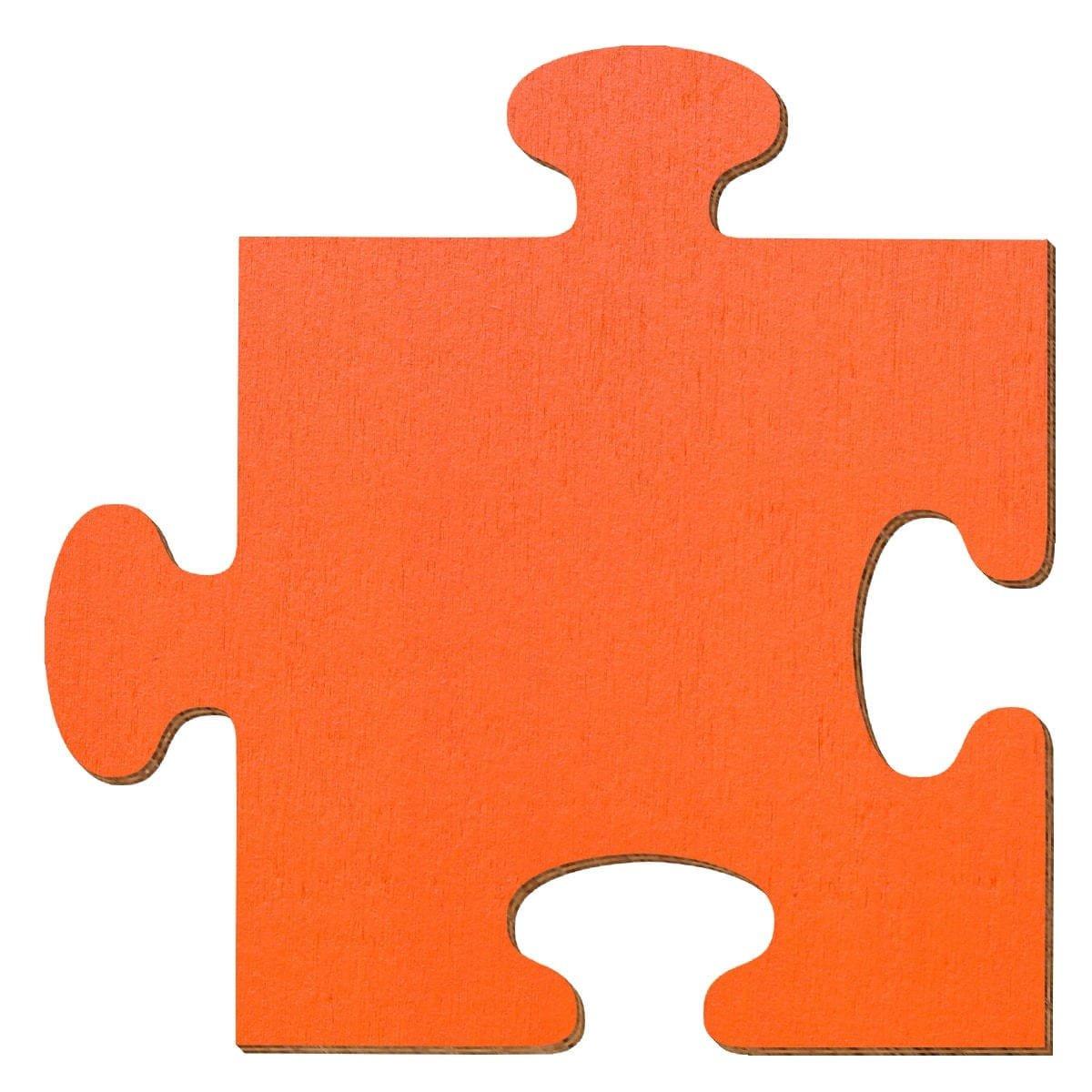 Bütic GmbH buetic compensato sbozzati Arancione–Puzzle–Misura a Scelta–Pioppo 3mm, Compensato, 5 x 5cm